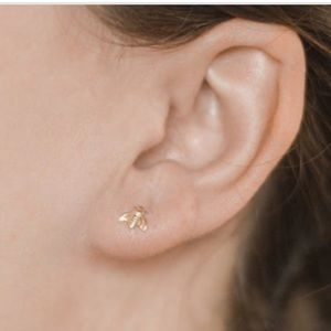 14k bee Earrings